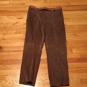 Men's Olive courduroy men's pants